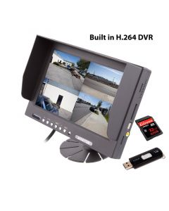 "Safesight TOP-SS-D9003Q 9"" Quad Screen LCD Monitor with built in DVR - Main unit"