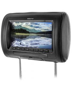 Savv LM-T7090W 7 Inch Universal Headrest LCD Monitor with Interchangeable Skins