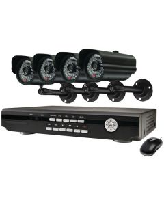 Swann SWA43-D3C5 8-Channel DVR with 4 CCD Weather-Resistant Cameras