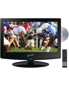 """SuperSonic SC1512 15.6"""" HD LED TV and DVD Combo with AC/DC power adapter"""