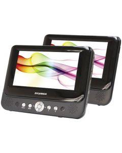 """Sylvania SDVD8737A 7"""" Dual-Screen Single Portable DVD Player"""