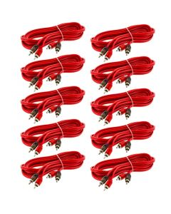 T-Spec V6RCA-102-10 Universal 10 Feet V6 Series Two-channel 10-Pack Audio Cable - Main