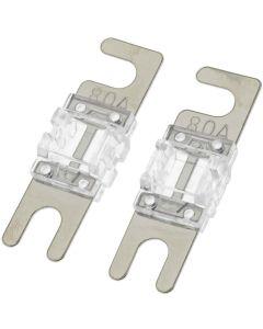 T-Spec V8-MANL80 Pack of 2 V8 Series 80 Ampere Nickel Plated MANL Fuses