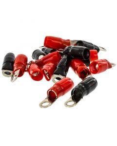 T-Spec V8-RTN3-20 Pack of 20 V8 Series 0 Gauge 0.38 inch Crimp Nickel Plated Ring Terminals