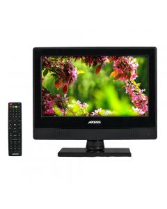 "Axess TVD1805-13 13"" HD LED TV with AC/DC power adapter and built in DVD"