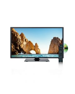 """Axess TVD1805-19 19"""" LED 12 volt TV - Front right with DVD and remote"""