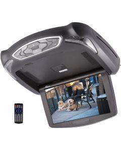 Tview T102DVFD 10.1 inch Overhead Flip Down Monitor with Built in DVD Player and USB and SD Card Reader - Main