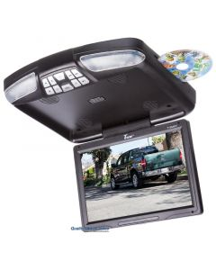 Tview T138DVFDBK 12.1 Inch Overhead DVD player with USB/SD card reader and Wireless game controllers - Black