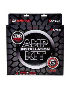 T-Spec V12-4DAK Universal RCA Cable 4 Gauge V12 Series Dual Amplifier Installation Kit