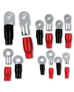 T-Spec V8-RTN2-20 Pack of 20 V8 Series 0 Gauge 0.31 inch Crimp Nickel Plated Ring Terminal