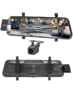 "VanTop H610 10"" HD Touchscreen Rearview Mirror Monitor with 2.5K Front Camera DVR and HD Backup Camera"