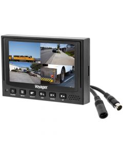 Voyager VOM74WP 7'' Quad Screen LCD Video Monitor - (4) Video inputs