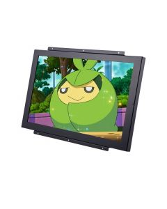 Accelevision LCDM17WVGAB Black 17 inch Raw Module Metal Housed Black LCD Monitor with VGA and Removable Flanges