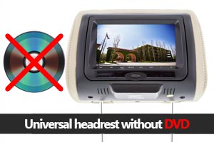 Headrest Monitors w/o Player