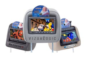 OEM Matching DVD Headrests