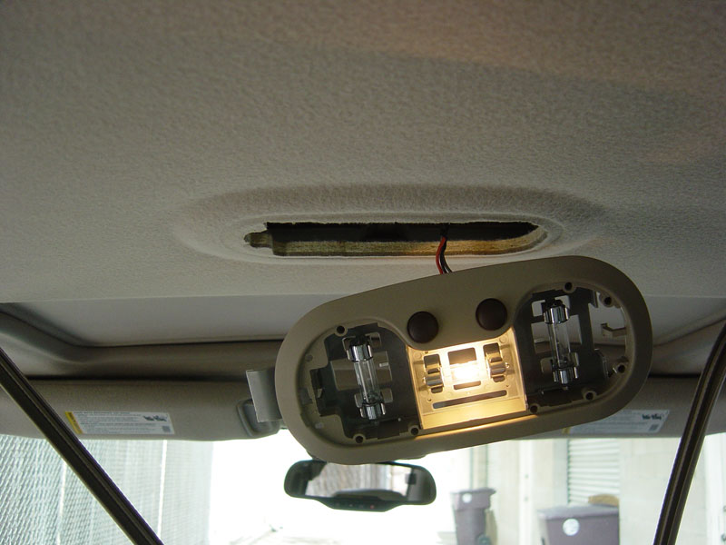 Pulling out the dome light