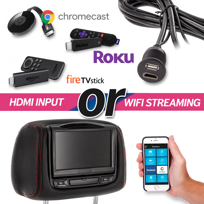 Optional Single HDMI input or WiFi Streaming