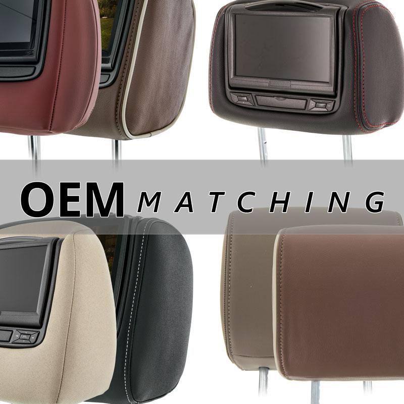 Factory matching upholstery with matching stitching