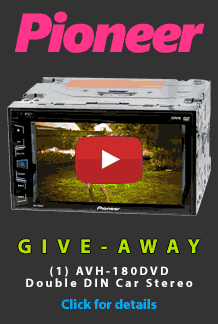 Pioneer Double Din giveaway